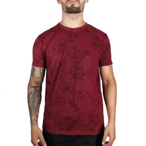 Camiseta Floral Full Print Adrenalina - Vinho