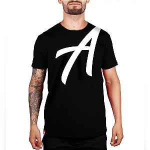 Camiseta Silk Branco Adrenalina - Preto