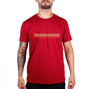 Camiseta Adrenalina Checkered - Vermelho