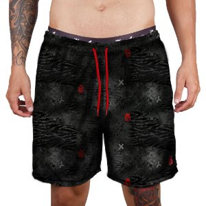 Short Praia Tactel Adrenalina - Black ADN