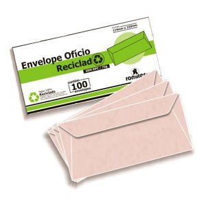 ENVELOPE OFICIO 114X229MM 75G RECICLAD C/100