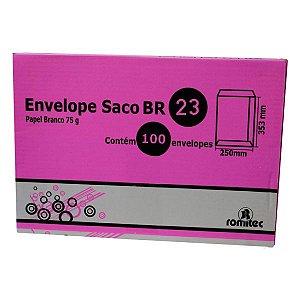 ENVELOPE SACO BRANCO BR23 - CAIXA COM 100