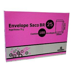 ENVELOPE SACO BRANCO BR25 - CAIXA COM 100