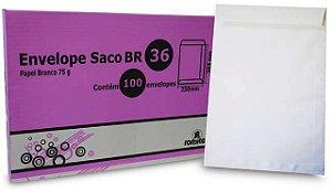 ENVELOPE SACO BRANCO BR36 - CAIXA COM 100