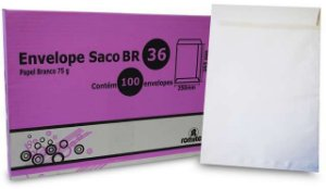 ENVELOPE SACO BR36 250X353MM C/100