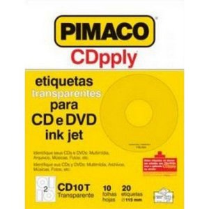 ETIQUETA CD 10FLS 20ETIQ CARTA CD10T TRANSP