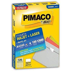 ETIQUETA LASER C/100 15,0X26  A4349  PIMACO