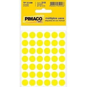 ETIQUETA TP-12 AMARELA PIMACO C/210