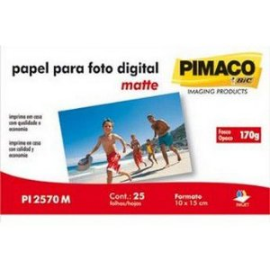 PAPEL PHOTO 10X15 170G PI2570M 25FLS