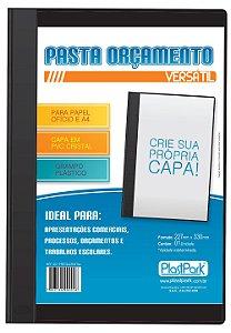 PASTA ORCAMENTO/TELEX PRETA OF C/GRAMPO PLAST