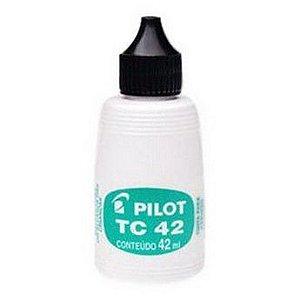 TINTA CARIMBO 42ML PRETA PILOT TC42
