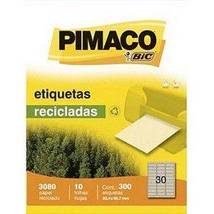 ETIQUETA LASER C/10 25,4X66,7 PIMACO RECICLADO