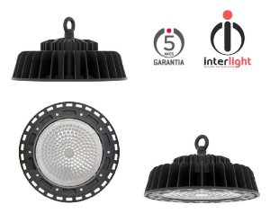 PROJETOR LED K2 HIGHBAY IP65 5000K Ø30 PRETO MICRO 7010-7017 INTERLIGHT