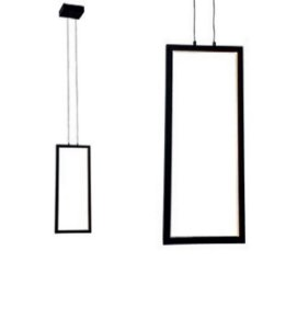 PENDENTE SLIM VERTICAL COM LED