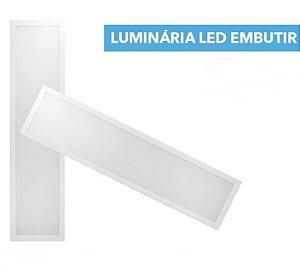 LUMINÁRIA DE EMBUTIR 120X30CM LED 45W BIVOLT
