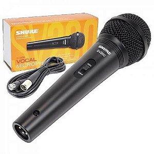 Microfone Shure SV200 Com Cabo e XLR 3mt