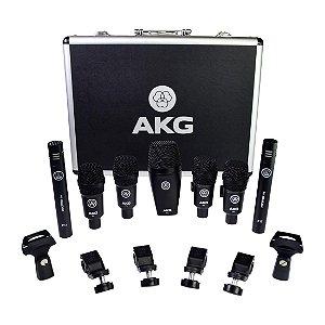 Kit De Microfone Akg Drum Set Session 1