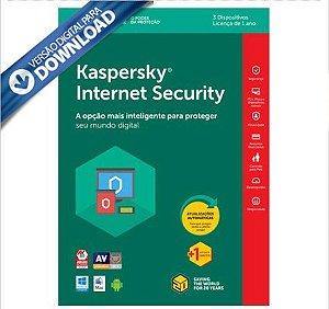 Kaspersky Internet Security 2018 Multidispositivos 3 PC - Digital para Download