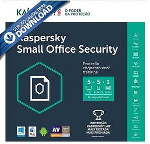Kaspersky Small Office Security - Multidispositivos 5 PCs + 5 Mobile + 1 Server - Digital para Download