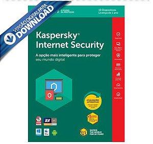 Kaspersky Internet Security 2018 Multidispositivos 10 PCs - Digital para Download