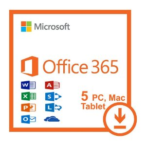 MICROSOFT OFFICE 365 PRO PLUS 2016 32/64 BITS VITALÍCIO  – 5 LICENÇAS (PC, MAC, ANDROID OU IOS)  - (DOWNLOAD)