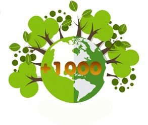 +1000 Árvores no mundo