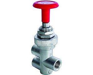 Válvula push pull de acionamento