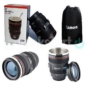 Caneca Térmica Lente de Câmera - Aço Inox