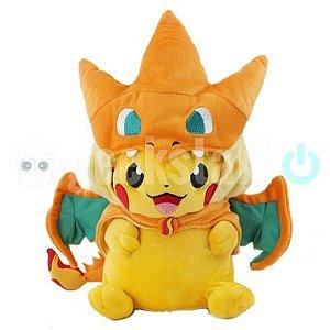 Pelúcia Pikachu Charizard