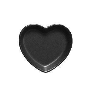 Travessa coração Preto Fosco P (12x11cm)