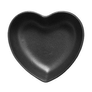Tigela coração Preto fosco (18,5x18cm)