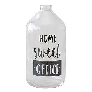 Vaso garrafa de vidro - Home sweet office