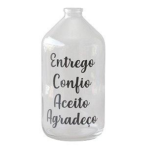 Vaso garrafa de vidro - Hoponopono
