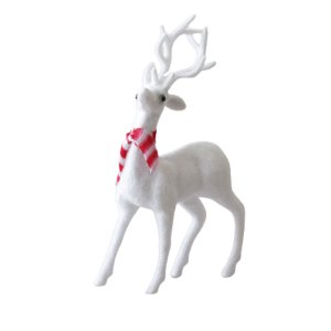 Rena de Natal branca em pé