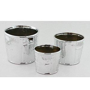Trio de Cachepots prata