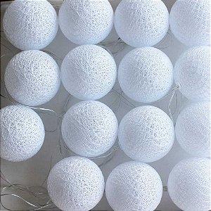 Cordão de Luz Cotton Branco Neve LED - 220V