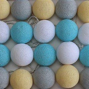 Cordão de Luz Cotton Baby Blue
