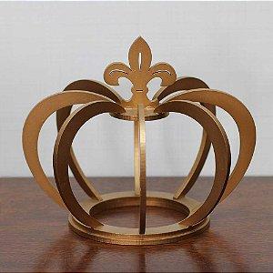 Coroa de Madeira Dourada grande