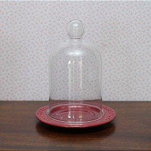 Redoma com base de louça  veneza - marsala