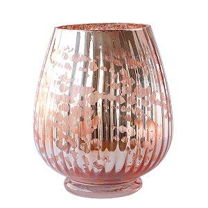 Vaso de vidro na cor cobre