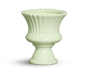 Vaso pequeno verde algodão doce