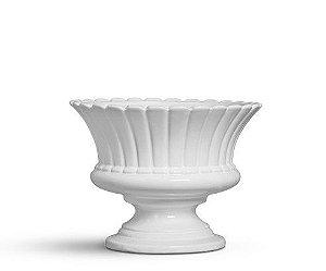 Vaso largo branco algodão doce