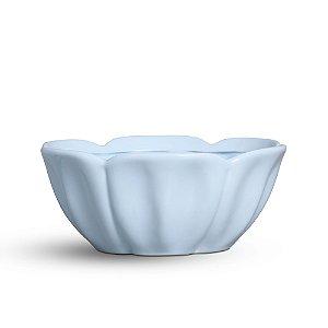 Tigela de louça azul algodão doce