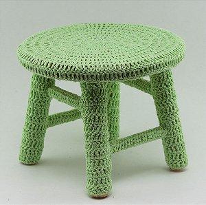 Banco de Crochê Pequeno - Verde Claro