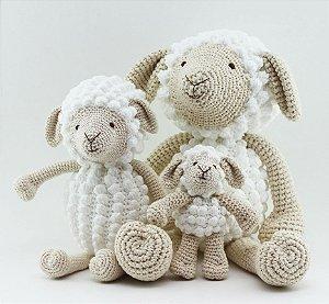 Ovelhas em Crochê - Trio