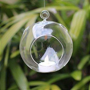 Pendente de vidro em forma de bola Grande