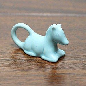 Porta guardanapo cavalo azul