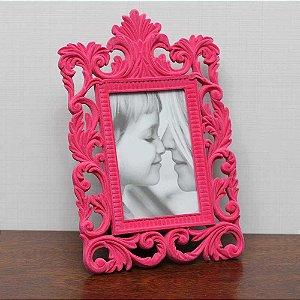 Porta-retrato de Veludo Retangular Rosa