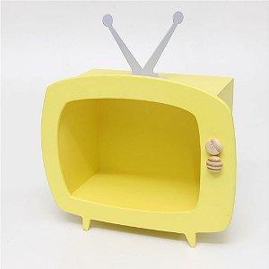 TV em MDF - Amarelo claro
