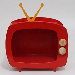 TV em Mdf - Vermelha